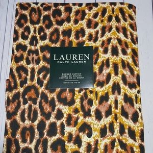 LEOPARD CHEETAH ANIMAL PRINT SHOWER CURTAIN